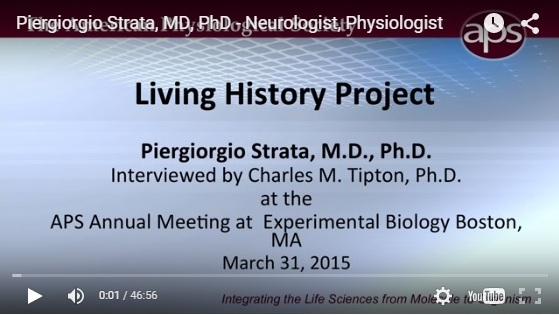 L'American Physiological Society intervista il professor Piergiorgio Strata